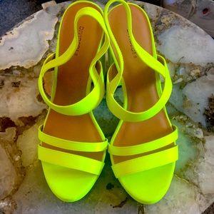 NWOT Bright heeled sandals